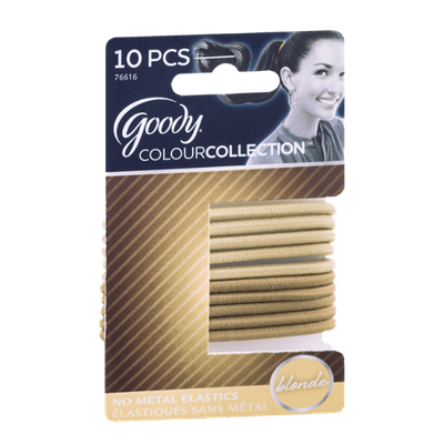 Goody ColourCollection No Metal Elastics Blonde - 10 CT