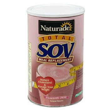 Naturade Natureade Total Soy Original Powder Meal Replacement, Strawberry Creme, 37.14 oz