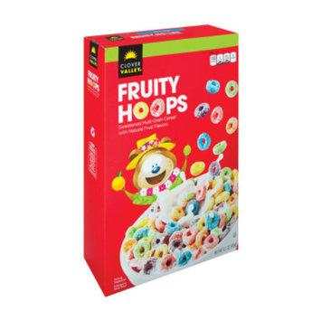 Clover Valley Fruity Hoops Cereal - 12.2 oz