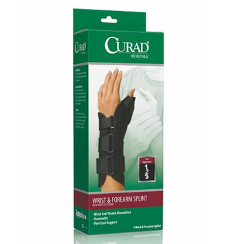 Curad Wrist & Forearm Splint with Abducted Thumb-Right, Medium, 6.5-8 in, Black, 1 ea