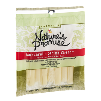 Nature's Promise Mozzarella String Cheese - 8 CT
