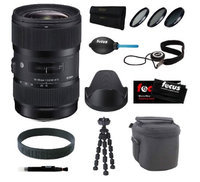 Sigma 18-35mm F1.8 DC HSM Zoom Lens for Canon DSLR Cameras with Deluxe Accessory Bundle