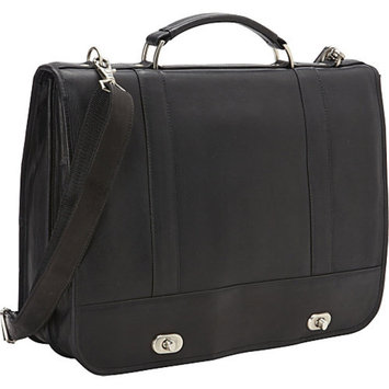 David King & Co. Full Flap Turn Lock Laptop Briefcase