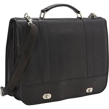 David King & Co. Full Flap Turn Lock Laptop Briefcase