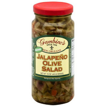 Gambino's Medium Jalapeno Olive Salad, 16 oz, (Pack of 6)