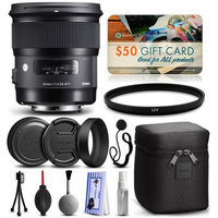 47th Street Photo Sigma 24mm F1.4 DG HSM Art Lens for Nikon (401306) with Starter Accessories Package includes UV Ultraviolet Filter + Deluxe Cleaning Kit + Air Dust Blower + Cap Keeper + $50 Prints Gift Card