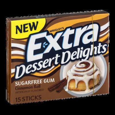 Wrigley's Extra Dessert Delights Sugarfree Gum Cinnamon Roll - 15 CT