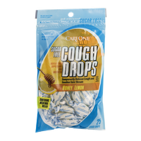 CareOne Cough Drops Sugar Free Honey Lemon - 25 CT