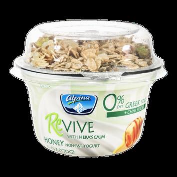 Alpina Revive Honey Non-Fat Greek Yogurt Plain + Chai Spices