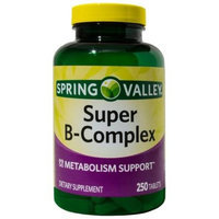 Spring Valley Super B-Complex Dietary Supplement Tablets, 250 count