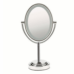 Conair Oval Satin Nickel Finish 1x/7x Lighted Mirror