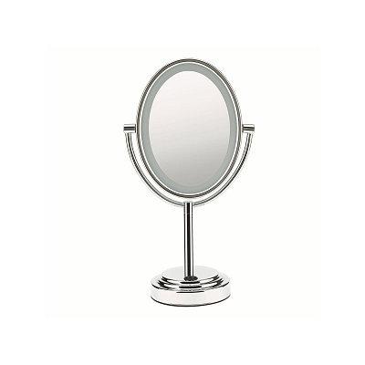 Conair Oval Satin Nickel Finish 1x/7x Lighted Mirror