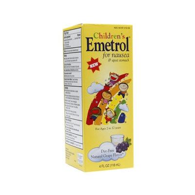 Children's Emetrol for Nausea & Upset Stomach, Dye-Free Natural Grape Flavor, 4 fl oz