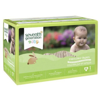 Seventh Generation Free and Clear Baby Diapers - 80 Count (Size 1)
