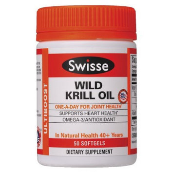 Swisse Wild Krill Oil Dietary Supplement - 50 Softgels