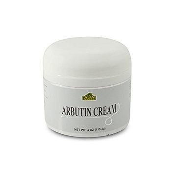 Alfa Vitamins Arbutin Cream 4 Oz with Vitamin E, Aloe Vera and Cocoa Butter. Helps Whitening Skin, Lighten Dark Marks and Blemish Control. Unisex