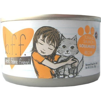 Best Feline Friend Cat Food, Tuna & Salmon Soulmates Recipe, 3-Ounce Cans (Pack of 12)