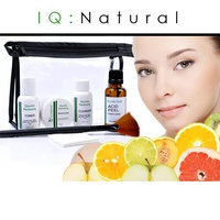 IQ Natural: Complete 50% Glycolic Acid Chemical Facial Peel Home Kit (Pro Grade)