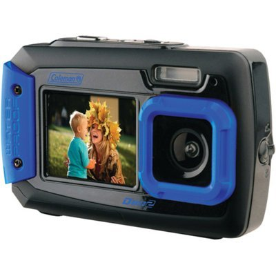 Coleman Duo 2V9WP Dual Screen Shock & Waterproof Digital Camera (Blue)