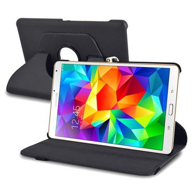 Insten INSTEN Black Leather Case 360 Degree Rotating Stand Cover For Samsung Galaxy Tab S 8.4 inch Tablet T700