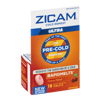 Zicam Cold Remedy Rapidmelts Ultra Concentrated Formula Quick Dissolve Tablets Cherry Flavor - 18 CT