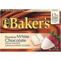 Bakers Baker's Premium White Chocolate Baking Squares, 6-Ounce Box
