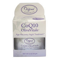 Jason Natural Orjene CoQ10 OliveVitale Age Recovery Night Treatment Cream, 2 Ounce Jars (Pack of 2)