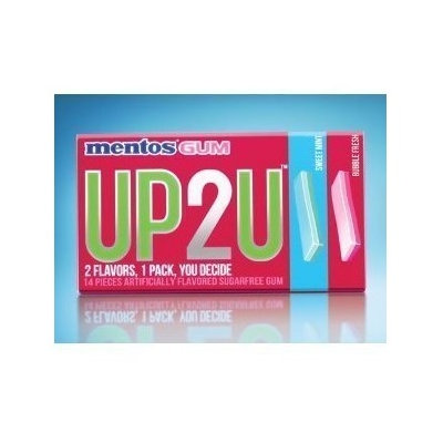 Mentos Gum UP2U Bubble Fresh and Sweet Mint
