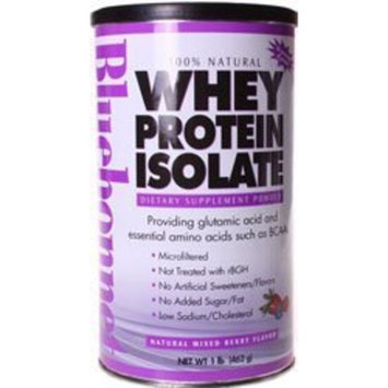 Bluebonnet - Whey Protein Isolate Powder Mixed Berry 1Lb