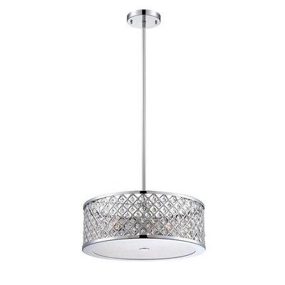 Home Decorators Collection Pendant Lights 3-Light Chrome Convertible Flushmount/Pendant 24894-HBU
