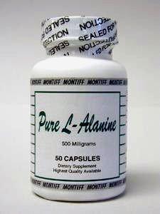 Pure L-Alanine 500 mg 50 caps by Montiff