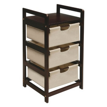 Storage Chest: Badger Basket 3-Drawer Hamper/Storage Unit - Canvas