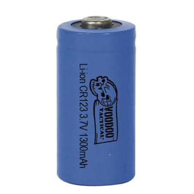 Voodoo Tactical CR123 Lithium-Ion Rechargeable Battery, Single