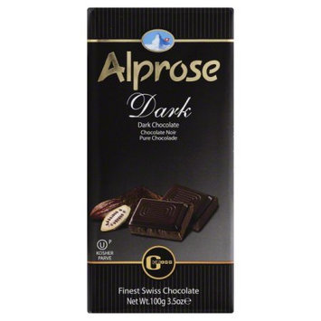 ALPROSE SWISS 63886 Alprose Swiss Parve Chocolate Bar - 3.5 oz.
