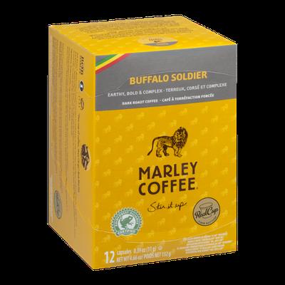 Marley Coffee Buffalo Soldier Dark Roast Capsules - 12 CT