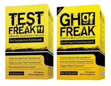 Saga Sciences (1) Pharmafreak Test Freak - Testosterone Booster and (1) Pharmafreak GH Freak Growth Hybrid Sleep Supplement