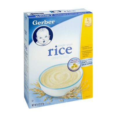 Gerber Single Grain Rice Cereal for Baby