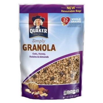 Quaker Simply Granola Oats, Honey, Raisins & Almonds Granola 12 oz
