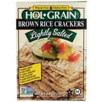 Holgrain Crackers Brown Rice With Light Touch of Salt -- 4.5 oz