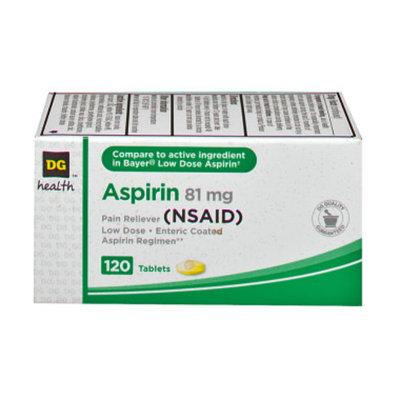 DG Health Aspirin - Low Dose Tablets, 120 ct