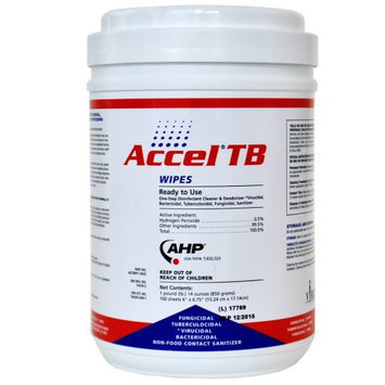 Virox Technologies ACCEL ATBW242013 Disinfecting Wipes, Size 6 x 7 In.