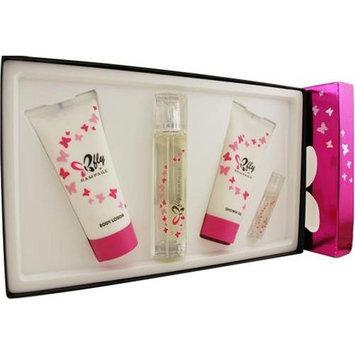 Rampage Butterfly By Rampage For Women. Set-eau De Parfum Spray 3 oz & Body Lotion 6.7 oz & Shower Gel 6.7 oz & Eau De Parfum Spray .34 oz Mini
