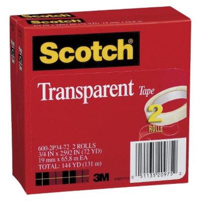 Scotch Transparent Tape 600 2P34 72, 3/4