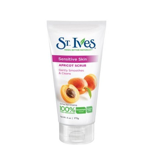 St. Ives, Sensitive Skin Apricot Scrub, 6-Ounce (Pack of 6)