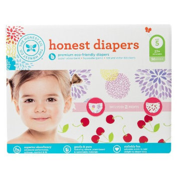 The Honest Company Honest Diapers Value Pack, Bloom & Cherries - Size 5 (50 Count)