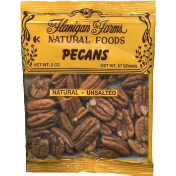 Flanigan Farms Natural Foods Pecans, Raw, Unsalted 2oz (6 Pack)