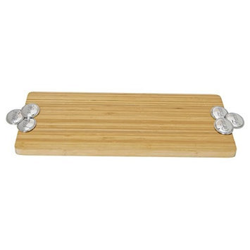 Thirstystone NB032 Bamboo Rectangular Serving Tray - Wine-Food-Friends