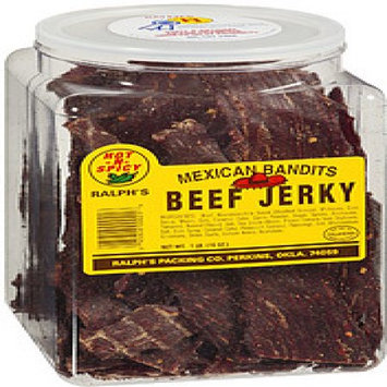 Ralphs Packing Co Hot Beef Jerky 15oz