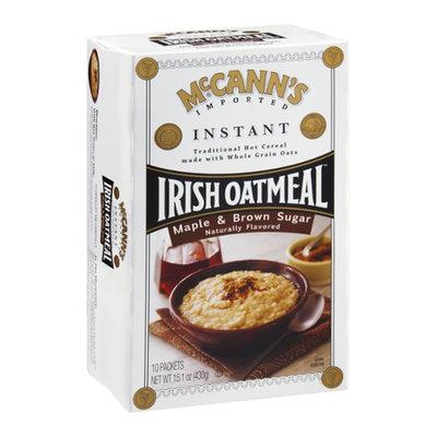 McCann's Irish Oatmeal Instant Maple & Brown Sugar - 10 CT