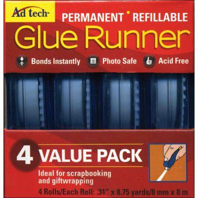 Ad-Tech 123383 Permanent Glue Runner 4-Pkg